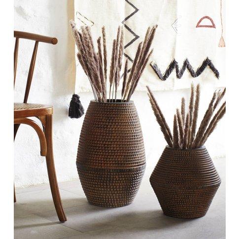 Dimpled Stoneware Vases
