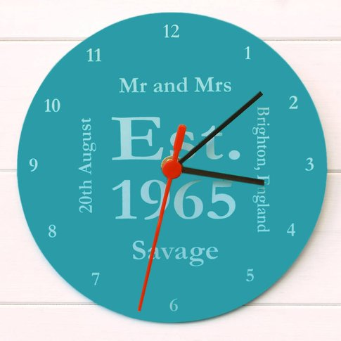 Mr And Mrs Clock, Plum/Sky Blue/Blue