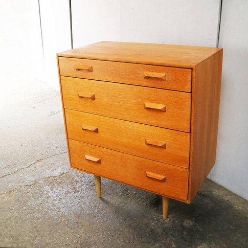 1960'S Mid Century Chest Of Drawers By Stag
