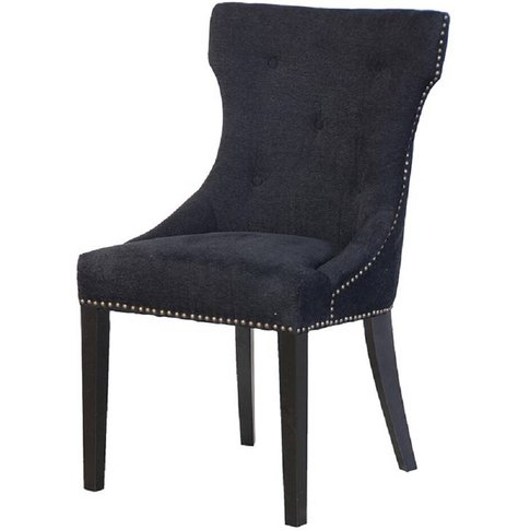 Satina Black Button Back Dining Chair