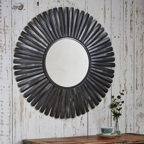Amisha Metal Feather Mirror