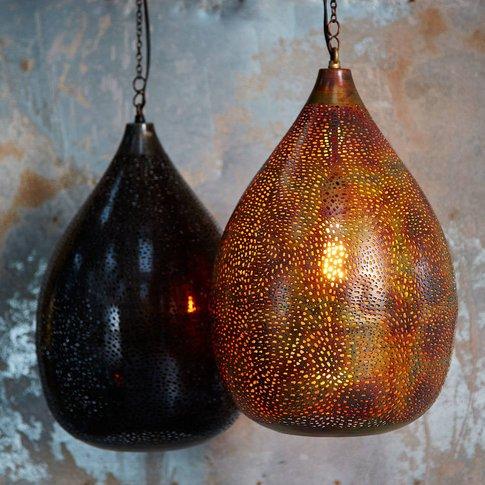 Koena Recycled Metal Pendant Light, Black