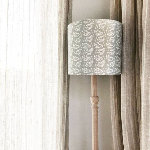 Cow Parsley Linen Lampshade