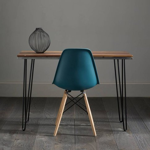 Black Walnut Desk With White Resin Inlay