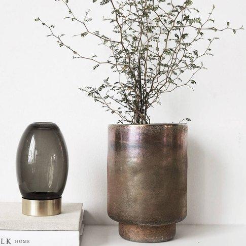 Bronzed Ombre Effect Vase