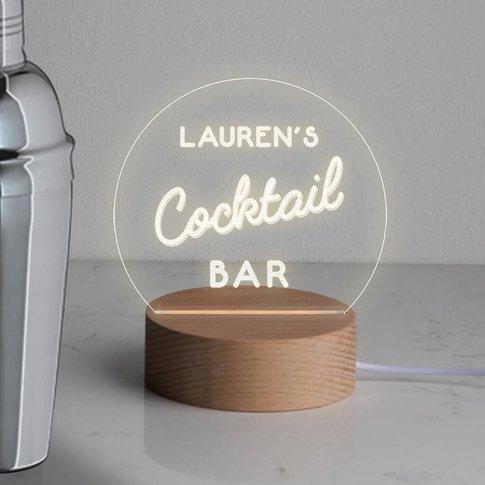 Personalised Home Bar Mini Desk Lamp