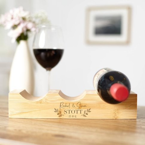Personalised Bamboo Wine Rack