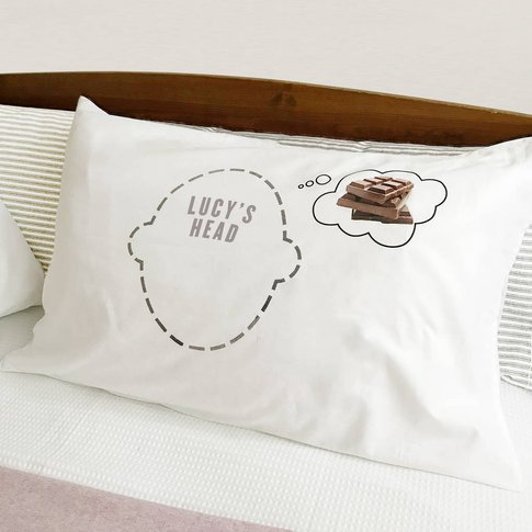 Personalised Pillowcase For Chocolate Lovers