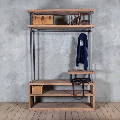 Shin Industrial Style Clothing Storage Unit