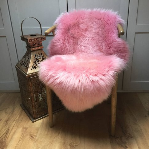 Luxury Hot Pink Sheepskin Rugs, Pink