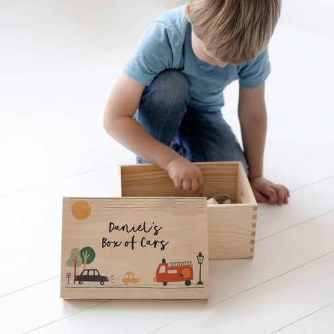 Personalised Child's Toy Box With Lift Off Lid