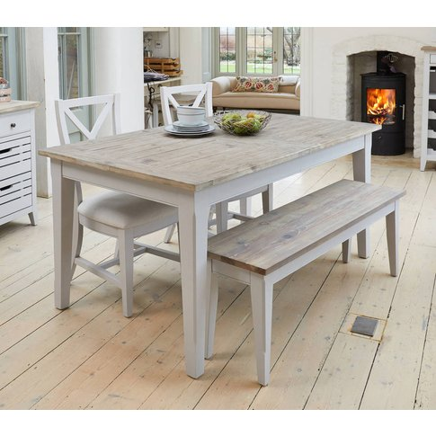 Ridley Grey Extending Dining Table