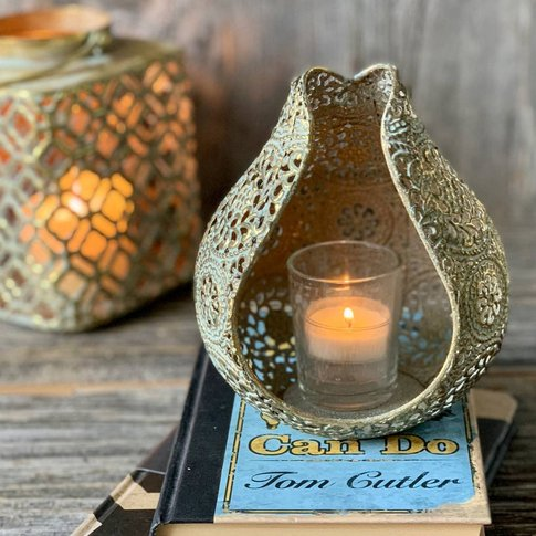 Sienna Gilded Candle Holder