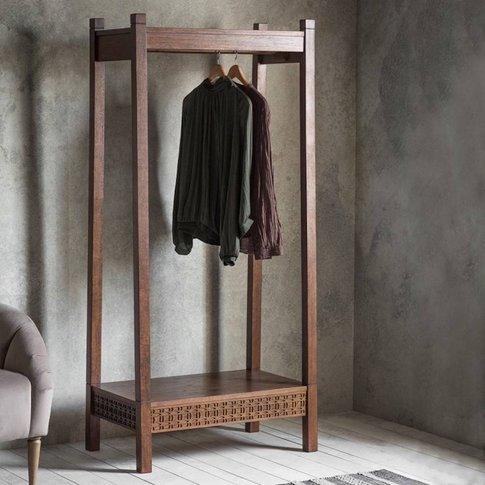 Wooden Open Wardrobe