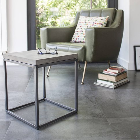 Concrete Perspective Side Table
