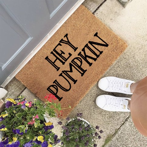 Hey Pumpkin Personalised Halloween Doormat For The Home