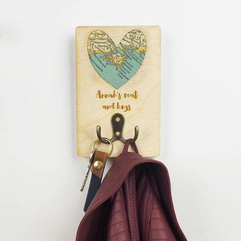 Personalised Map Coat Hook