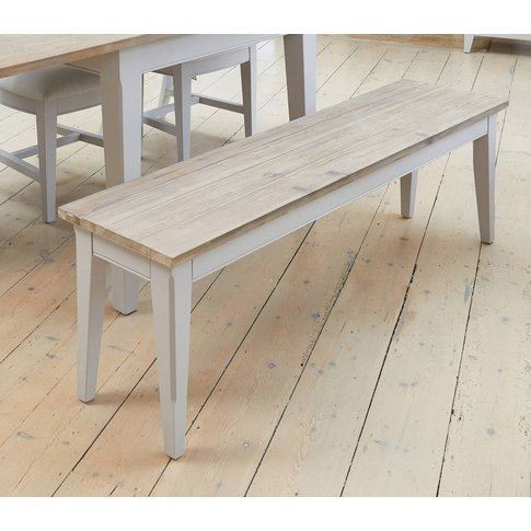 Ridley Grey Dining Bench Large