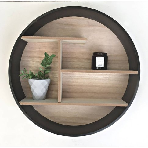 Round Wooden Shelving Unit