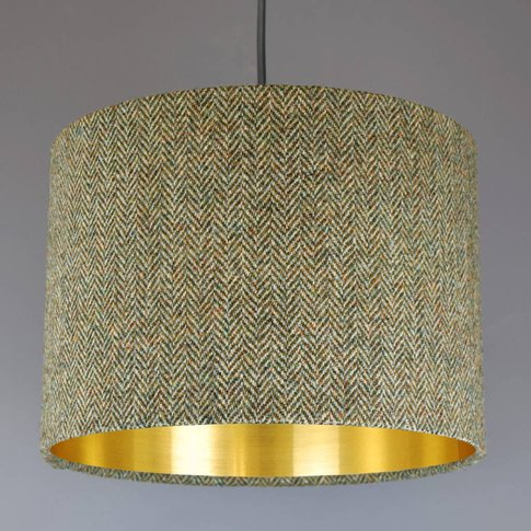 Barley Harris Tweed Lampshade Choice Of Metallic Lining