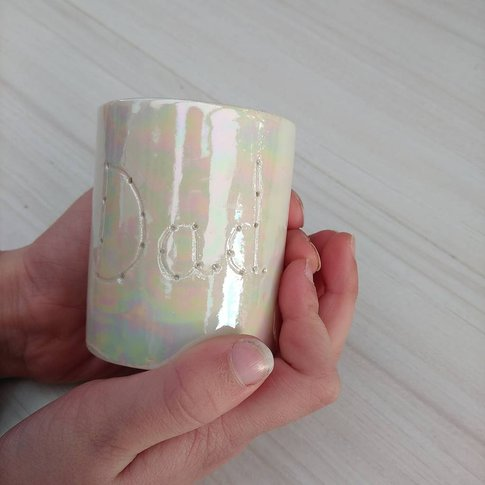 Personalised Dad Candle Holder