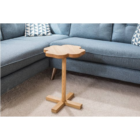 Hand Made Lucky Oak Side Table