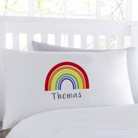 Bright Rainbow Personalised Pillowcase