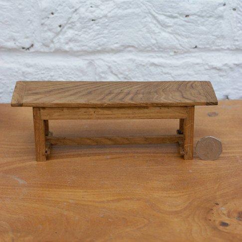 Jacobean Style Dolls House Miniature Oak Dining Table