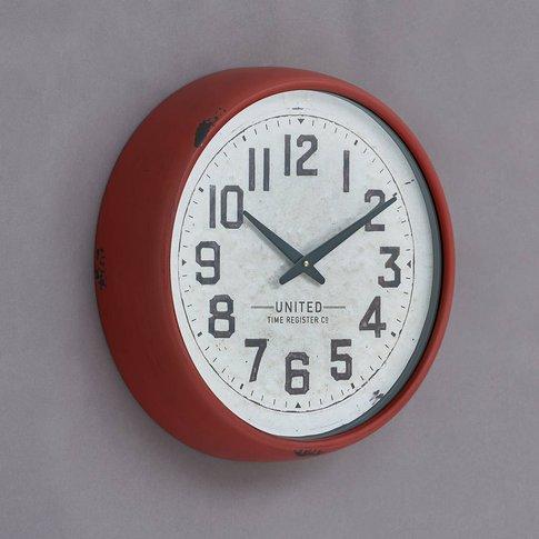 Red Grosvenor Wall Clock