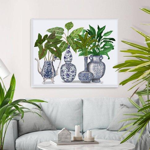 Chinoiserie Vase Group Two, Botanical Print