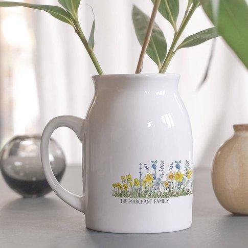Personalised Family Birthday Birth Flower Vase