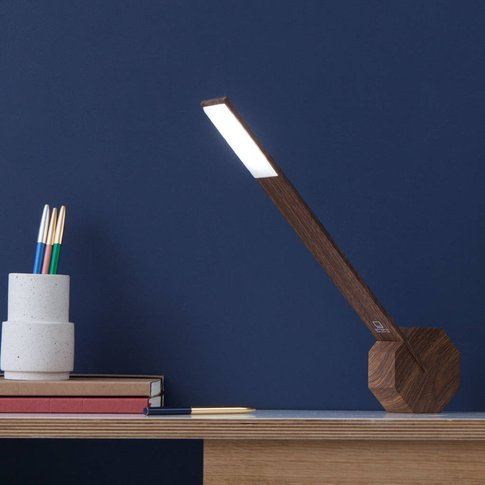 Rechargeable Wireless Octagon One Desk Lamp, Black