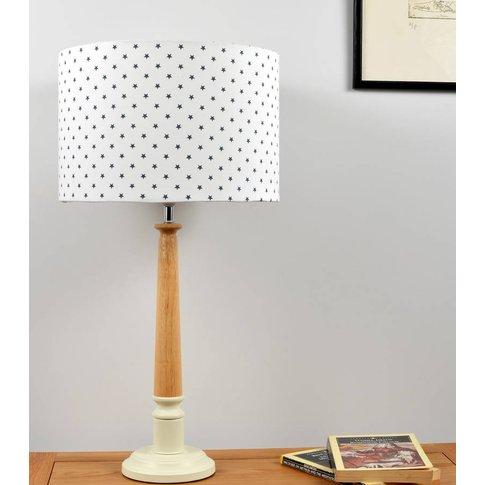 Mini Stars Wooden Table Lamp, Grey/White/Baby Blue