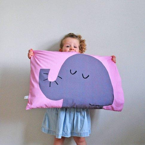 Grey Elephant Flippable Pillowcase