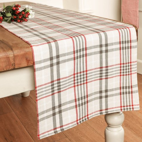 Traditional Tartan Luxury Cotton Dining Table Runner