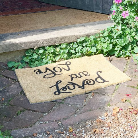 Reversible Door Mat You Are Loved/ Peace And Love
