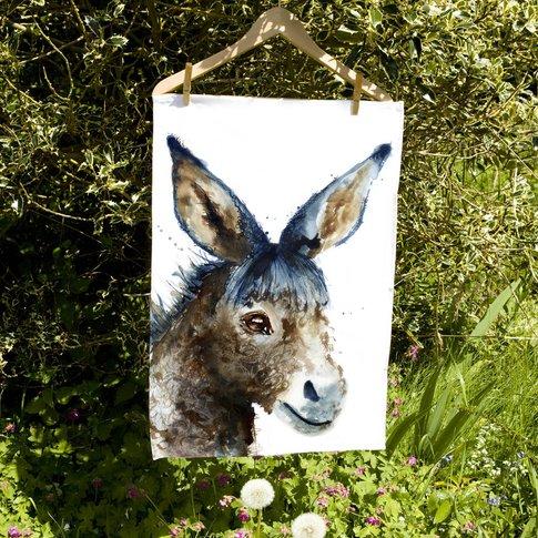 Inky Donkey Tea Towel