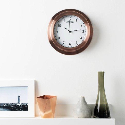 Customisable Climemet Wall Clock, Bronze/Cream/Grey
