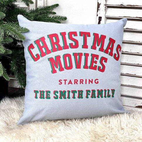 Personalised Christmas Movies Cushion