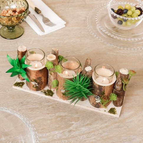 Summer Meadow Table Centrepiece Candle Holder