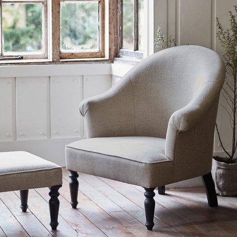 Clandon Linen Armchair, Linen/Grey