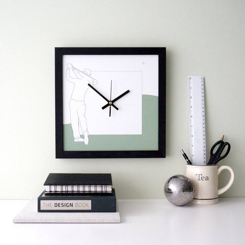Golf Hobby Wall Clock