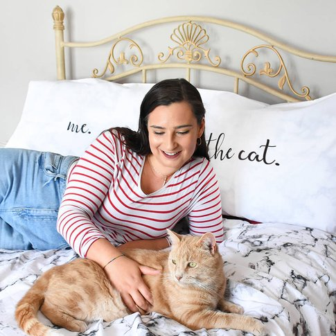 The Cat And Me Pillow Case Set