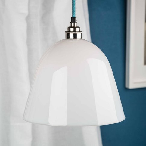 Opal Glass Bletchley Shade Pendant Light