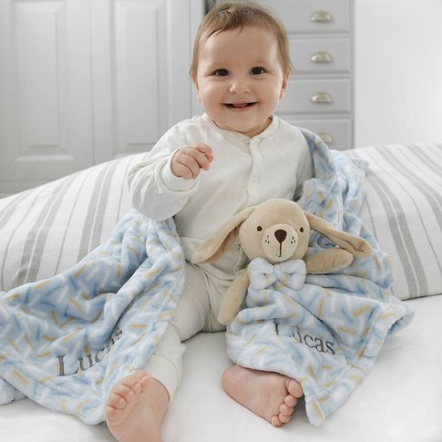 Personalised Puppy Comforter And Blanket Set