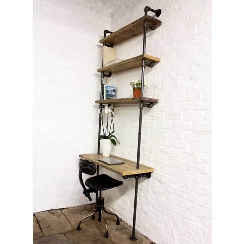 Baines Bespoke Reclaimed Bookcase And Desk