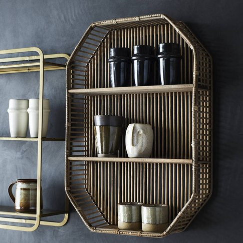 Rectangular Bamboo Shelving Unit