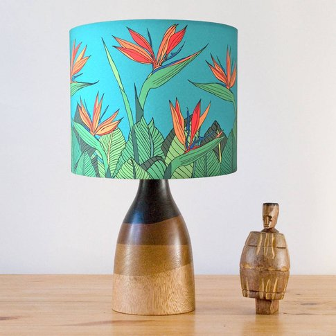 Tropical Bird Of Paradise Flower Stand Lampshade