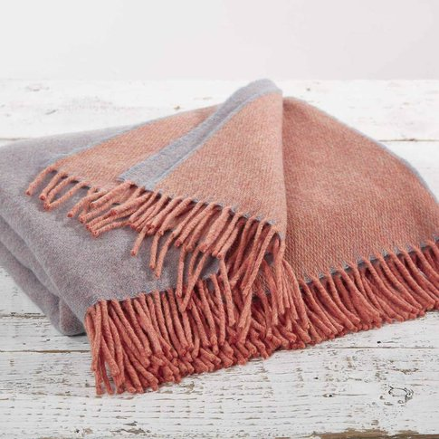 Coral Pearl Reversible Throw