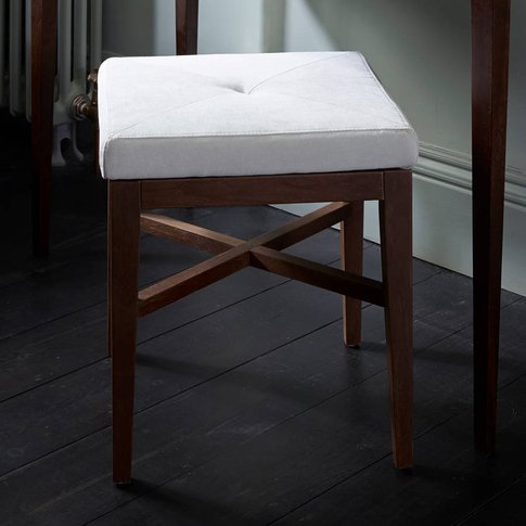 Lux Small Square Upholstered Stool